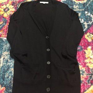 Loft black boyfriend style v neck cardigan